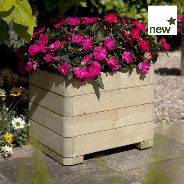 Marberry Square Wooden Planter