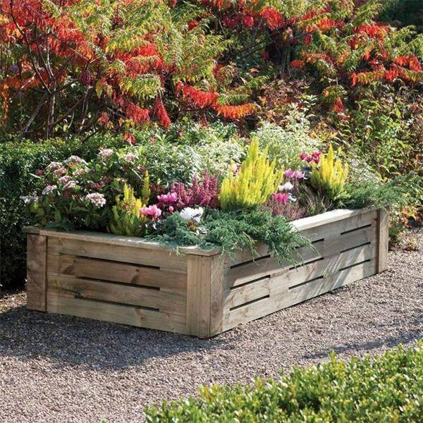 Rowlinson Raised Wooden Planter 6 x 3