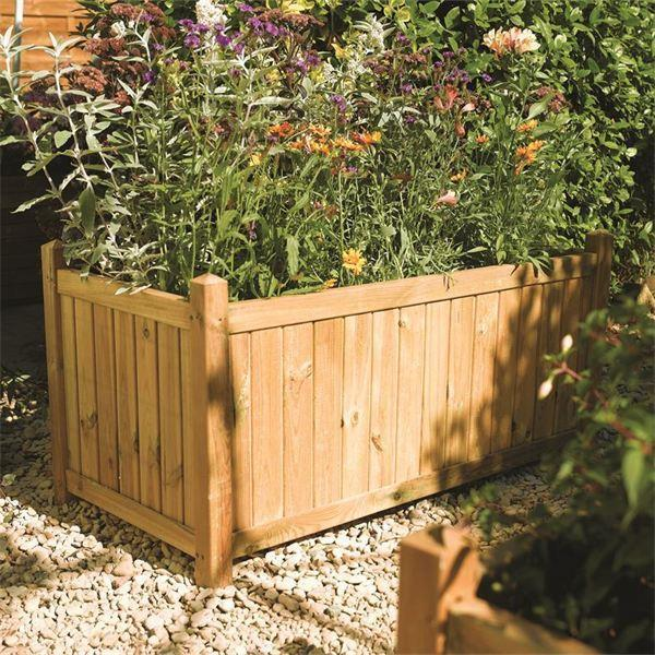 Rowlinson Rectangular Wooden Planter