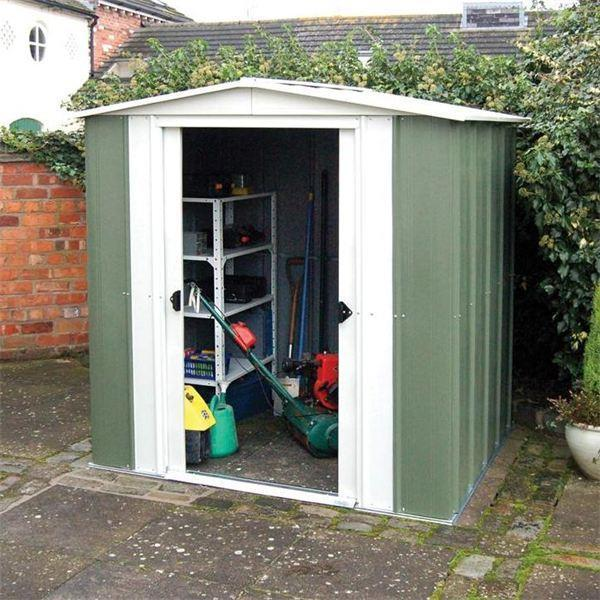 Rowlinson (Greenvale) Apex Metal Shed 6 x 5