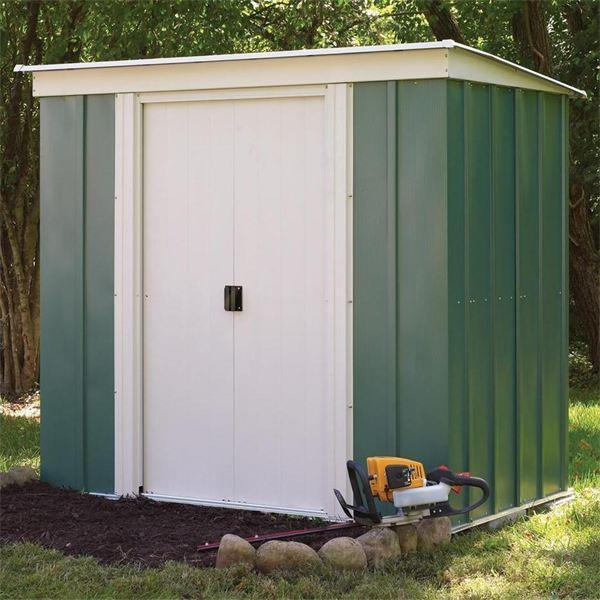 Rowlinson (Greenvale) Pent Metal Shed 6 x 4