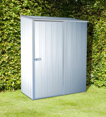 Mercia Space Saver Metal Shed - Zinc Finish