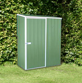 Mercia Space Saver Metal Shed - Pale Eucalyptus