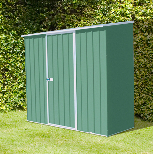 Mercia Space Saver Metal Shed 2.26m x 1.52m (Pale Eucalyptus)