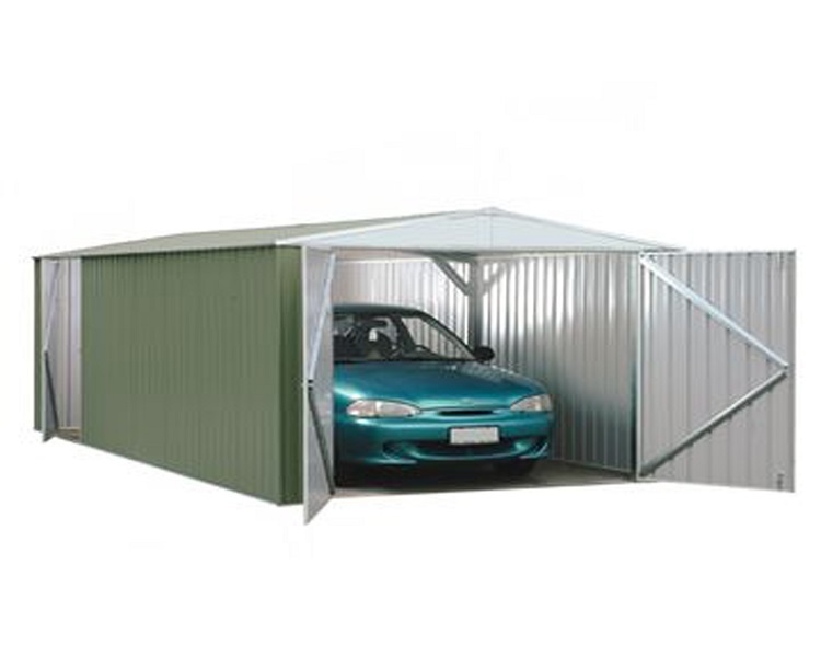 Utility Metal Shed / Metal Workshop 3.0m x 6.0m (Eucalyptus)