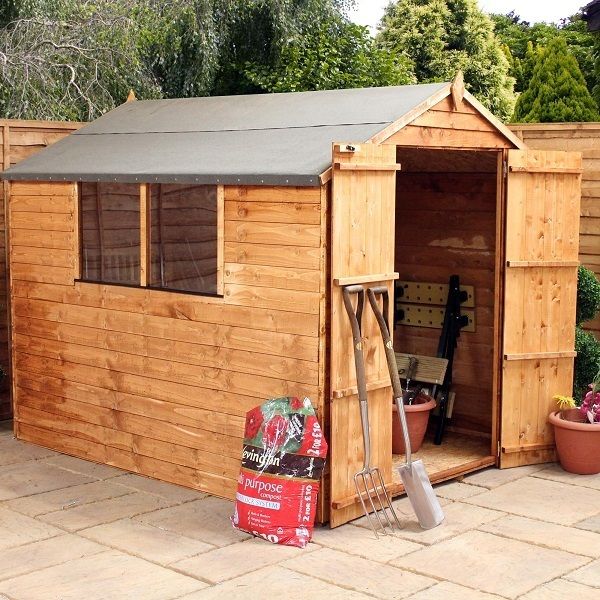 Mercia 8x6 Overlap Apex Wooden Shed