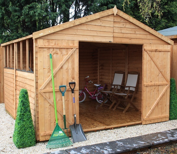 Mercia 10 x 10 Overlap Apex Wooden Garden Shed / Workshop