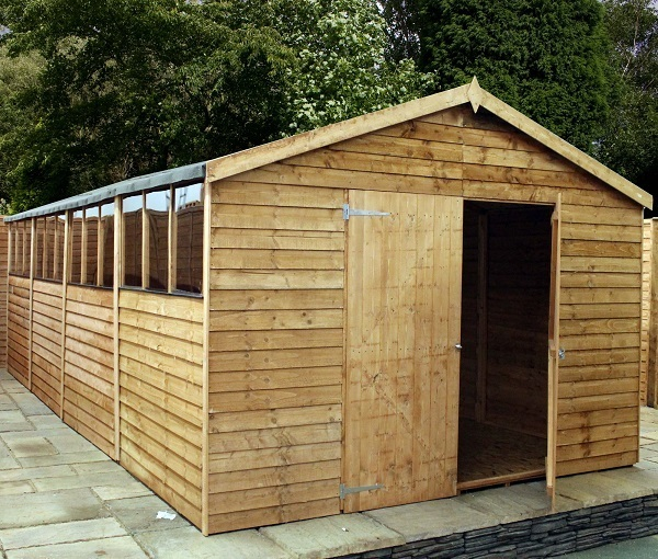 Mercia 20x10 Overlap Apex Wooden Garden Shed / Workshop