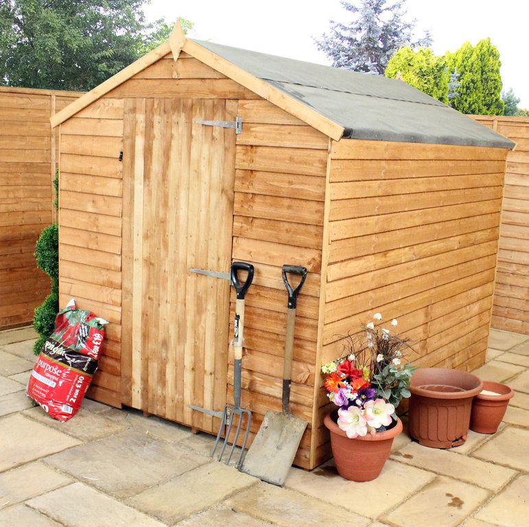 Mercia Budget 8 X 6 Overlap Apex Wooden Shed