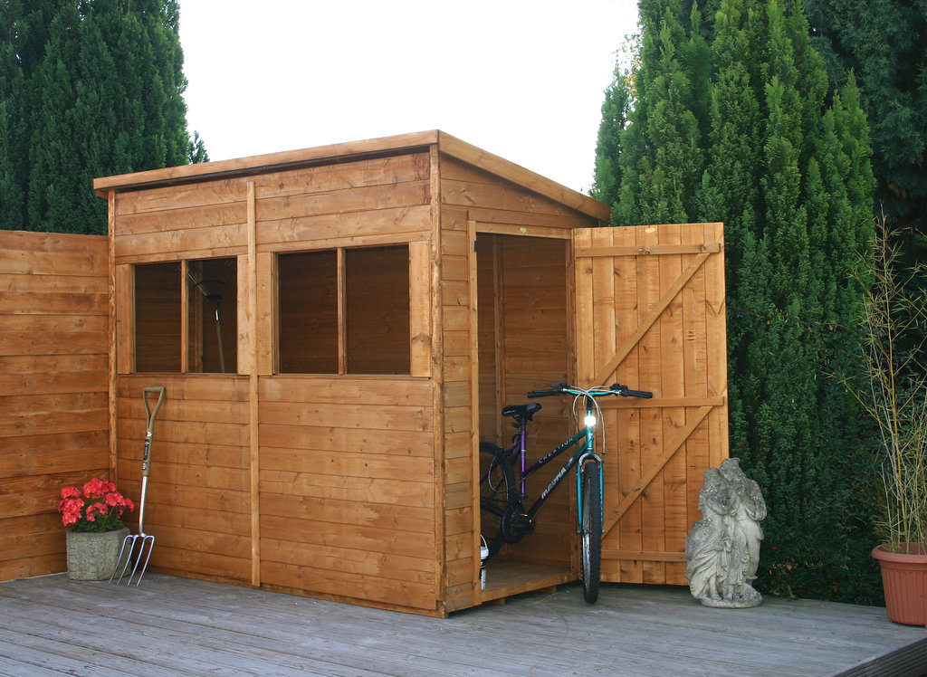 Mercia 8 x 4 pent timber potting shed garden storage online for Garden shed 5 x 4