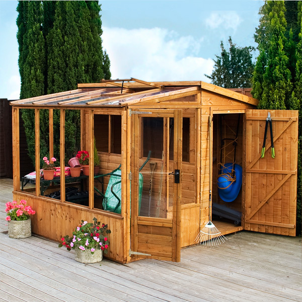 Mercia 8 X 8 Combi Greenhouse Amp Shed Garden Storage Online
